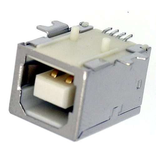 USB B TYPE SOCKET RECEPTACLE PCB SMT TYPE