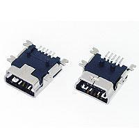 MINI USB 5PIN SOCKET RECEPTACLE PCB SMT TYPE