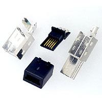 MINI USB 5PIN PLUG SOLDER TYPE FOR ASSEMBLY CABLE