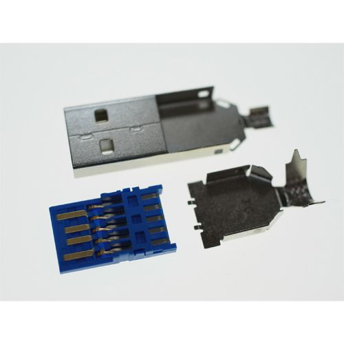 USB 3.0 A Type Plug, Solder Type, 3PCS (OD:6.0mm)